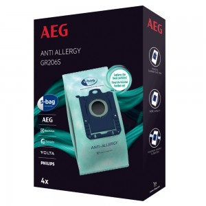 Worki S-bag antyalergiczne GR206S Anti Allergy do odkurzacza AEG Electrolux